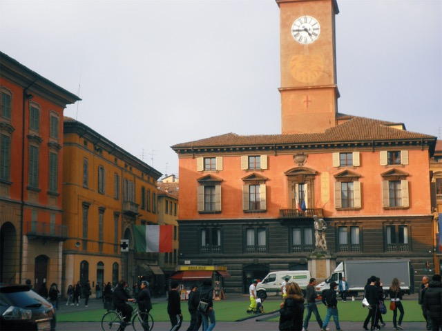 Reggio Emilia's historic center.