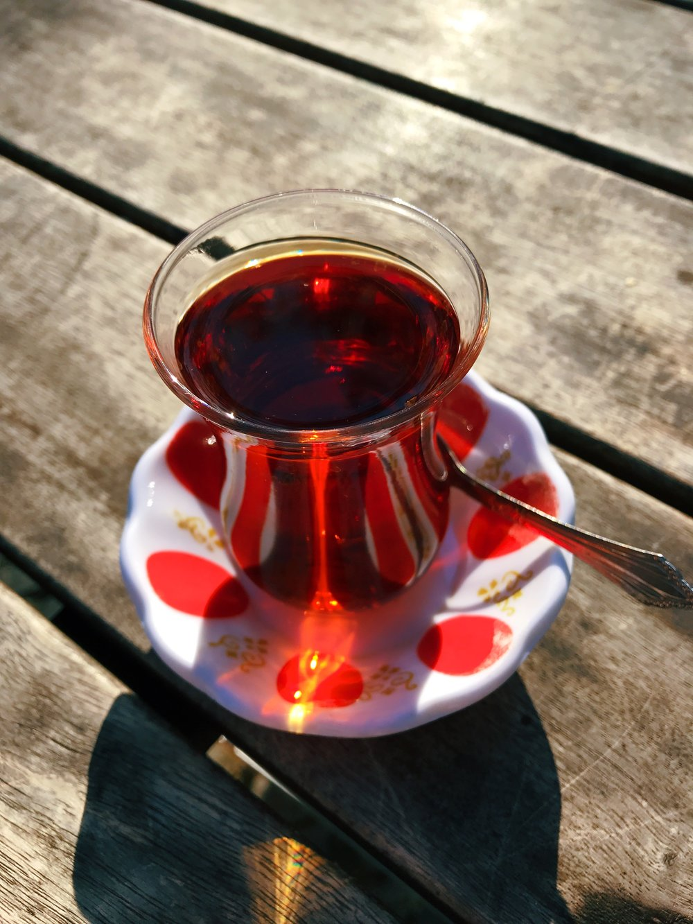 Turkish tea. In 1961, West Germany invited Turkish workers to come work temporarily because they needed labor. They stayed and now hipster Kreuzberg is also known as 'Little Istanbul.'