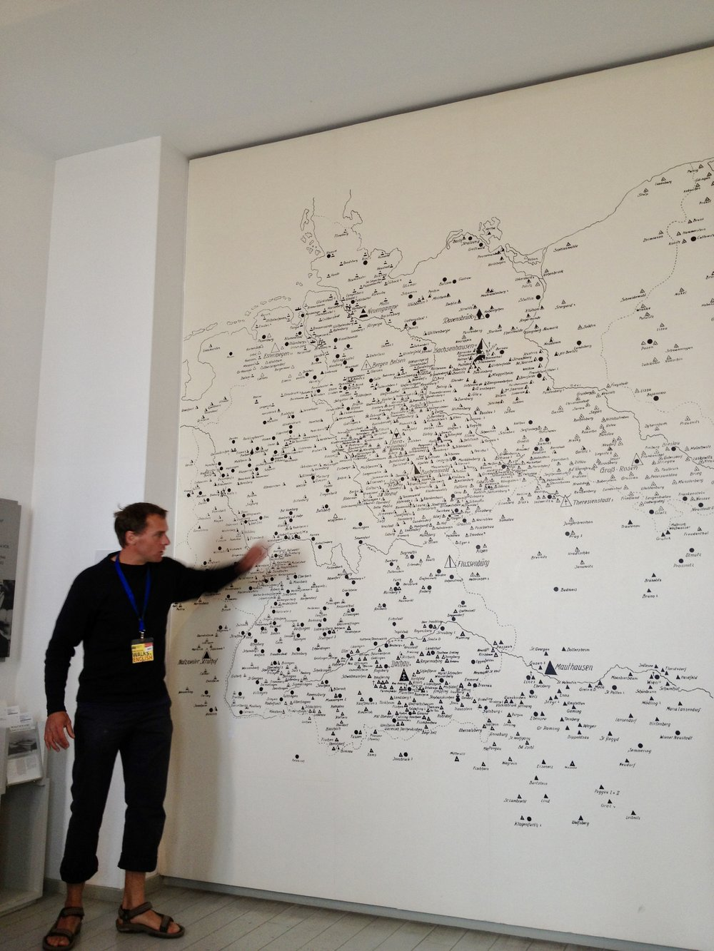 Map of the death and concentration camps at the German Resistance Memorial Center in Berlin. The number of Holocaust victims, including Jews, homosexuals, leftists, people with disabilities and other groups, is estimated between 11 million and 17 million people.