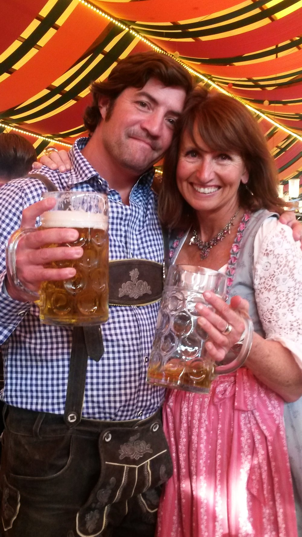 Maxine with a tourist at Oktoberfest. Contact her if you're looking for a  Munich tour guide .