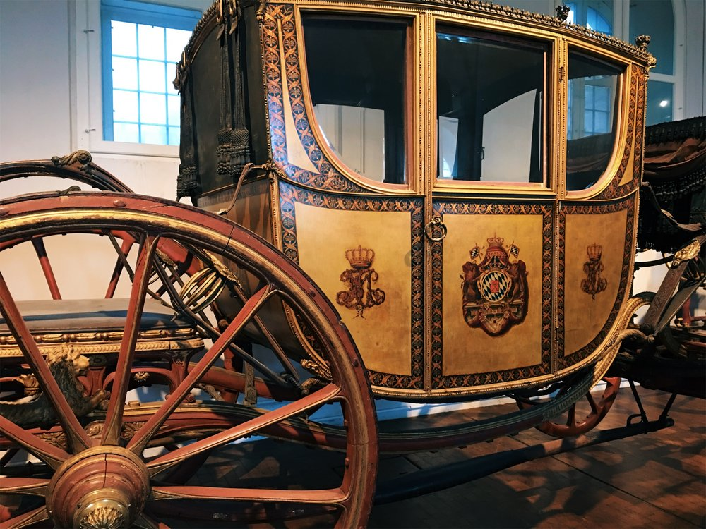 At  Nymphenburg Palace , an entire section of this now museum is filled with the fancy coaches the royals rode around in.