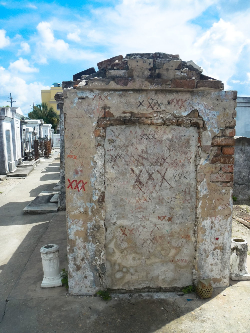 St. Louis cemetery is the oldest active cemetery in New Orleans and is only a block big.  Photo by Cristal Dyer .