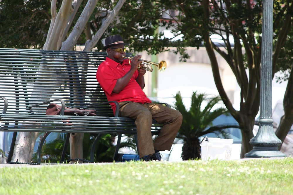 Music, music everywhere in New Orleans.  Photo by Cristal Dyer .
