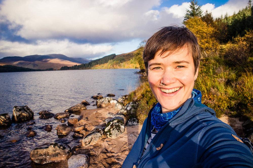 Kathi at Loch Ossian.