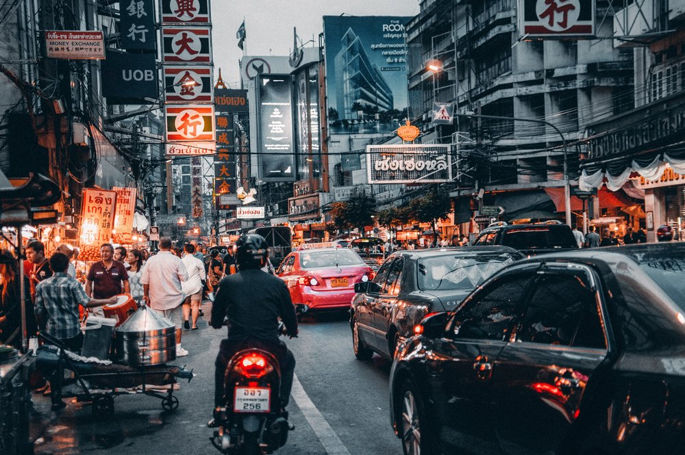 """""""When you're on a busy street, just go a street or two back and you'll start exploring the true essence of what's going on,"""" says travel writer and Australian expat Nardia Plumridge. """"Bangkok is very much that: huge street hubs that are horribly busy and then you can just walk by and find something glorious."""""""