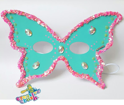 Added designs using drops of glue and glitter Added gems  This craft is PERFECT for a birthday party! Nothing like making your own party favors! ~Fin~