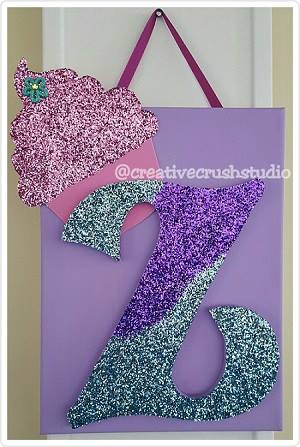 """Bling"" Initial Wall Hanging (Canvas)"