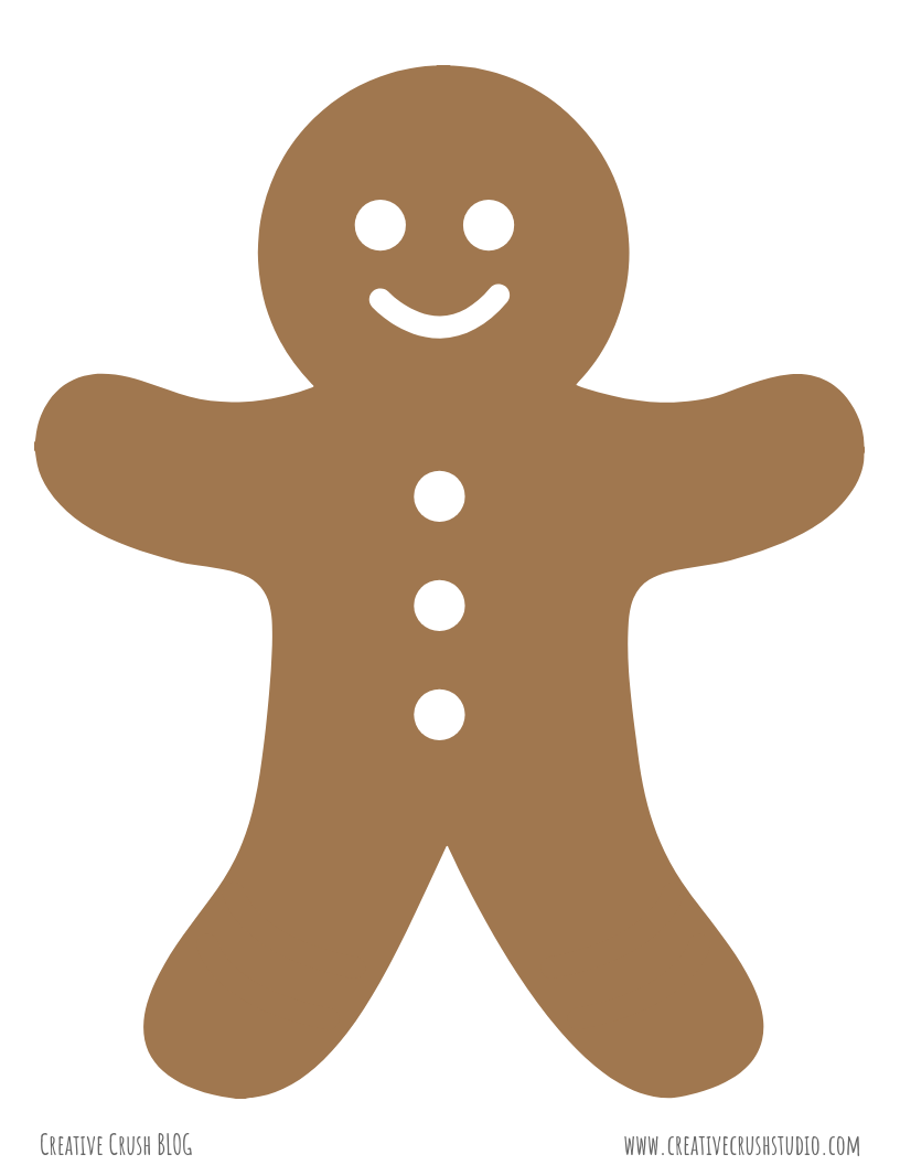 Gingerbread Man …Laminate and Decorate!
