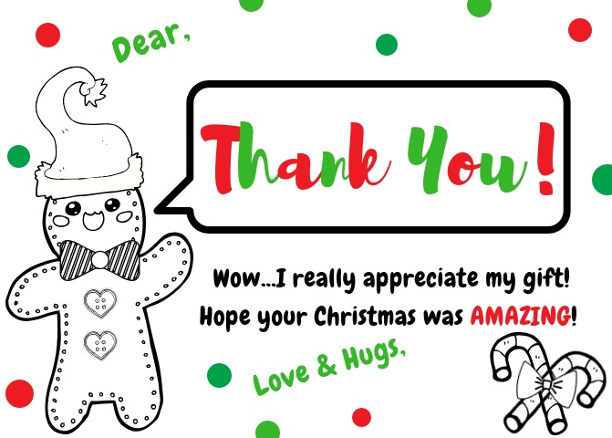 Single gift w/black and white pics (for child to color)