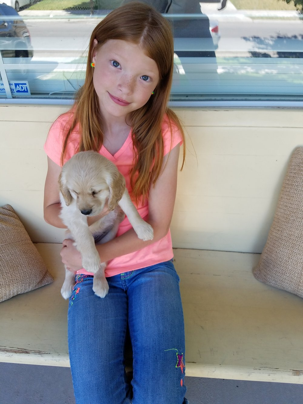 My 10-year-old daughter and her puppy Brie