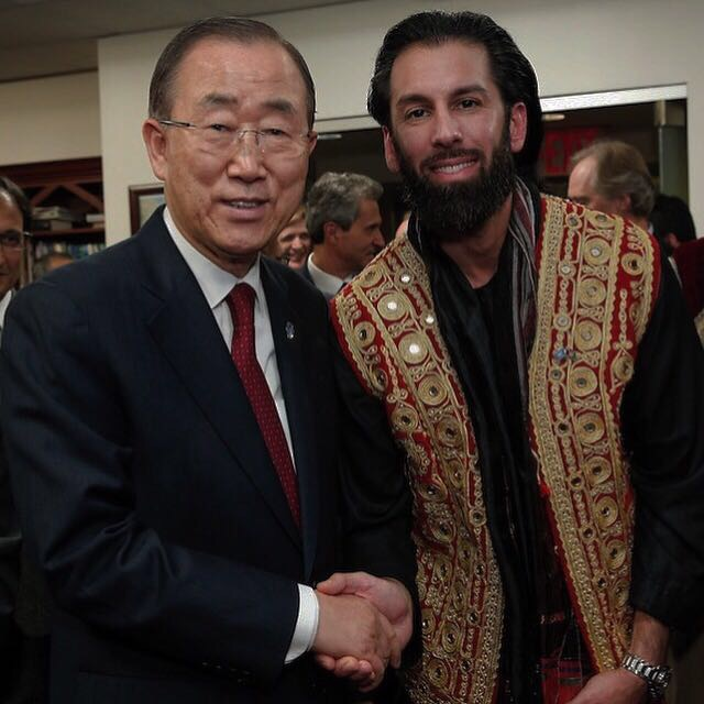 United Nations Ban Ki Moon celebrating a 70 year relationship between Afghanistan & UN