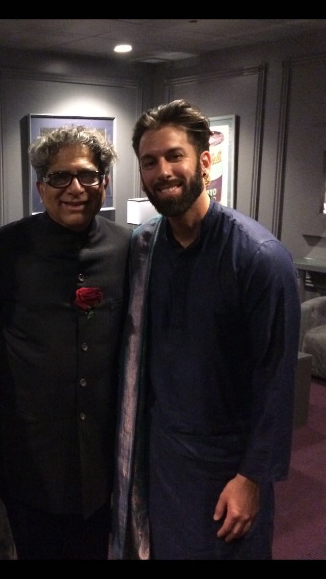 Deepak Chopra and I prior to our Rumi Symphony performance