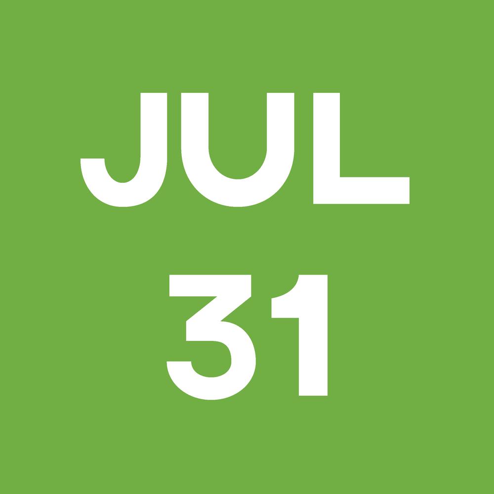 Date Block July 31st