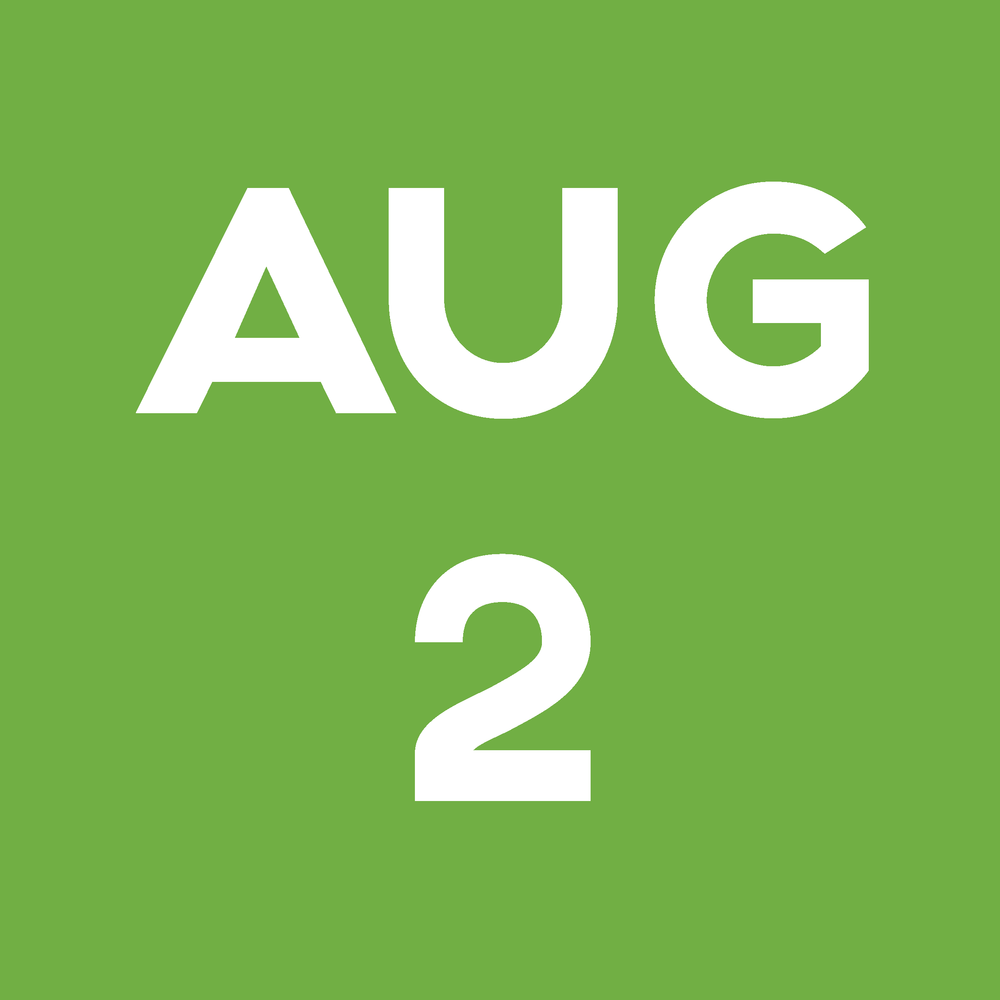 Date Block August 2nd