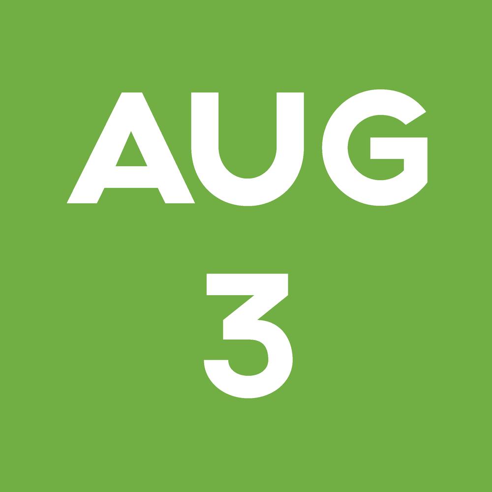 Date Block August 3rd