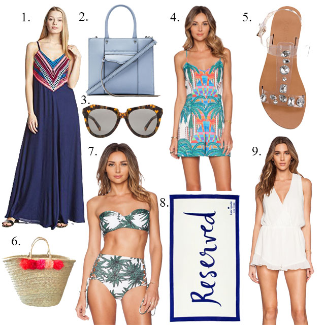 Style board for outfits I wore in Greece and where I got them