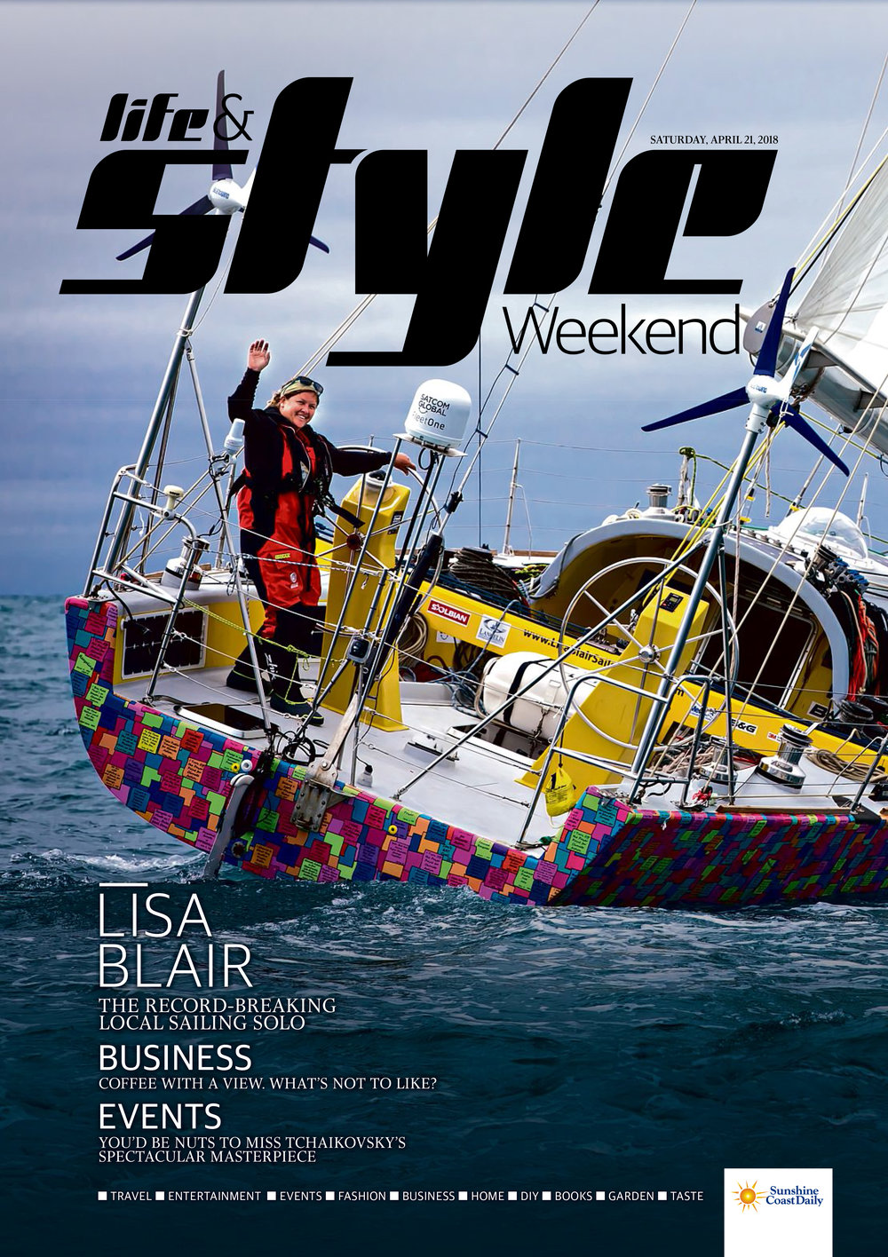 Lisa Blair the record breaking local sailing solo
