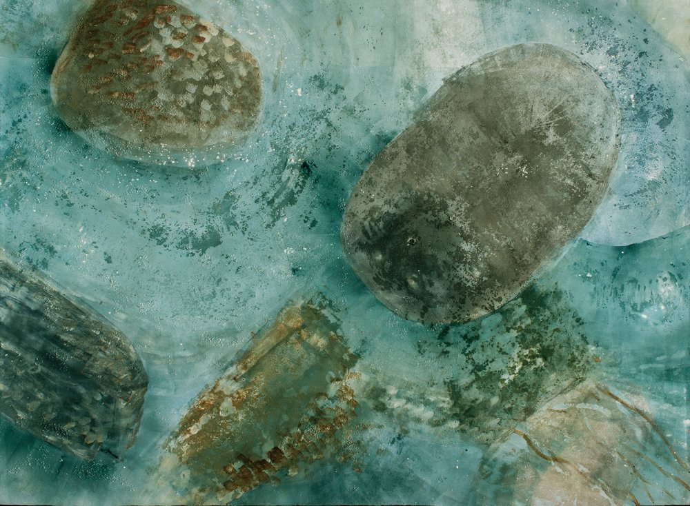 "Submergence,  2016, monotype, 22"" x 30"""