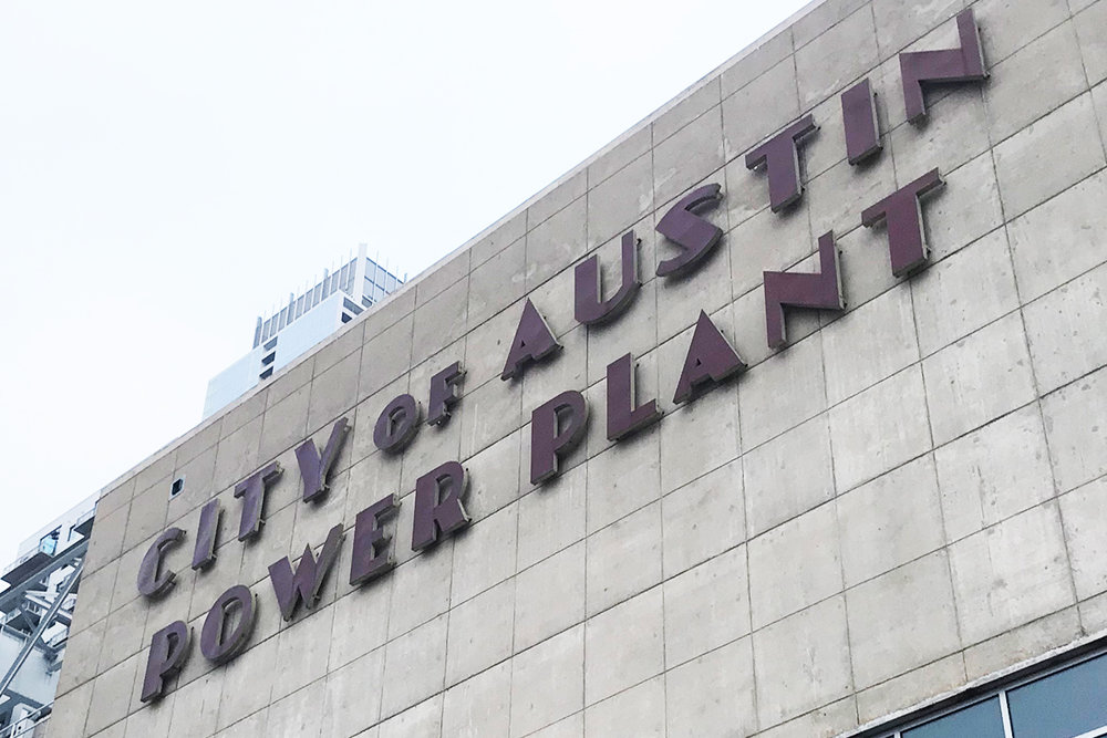 Classic tourist picture of the amazing Austin Power Plant.