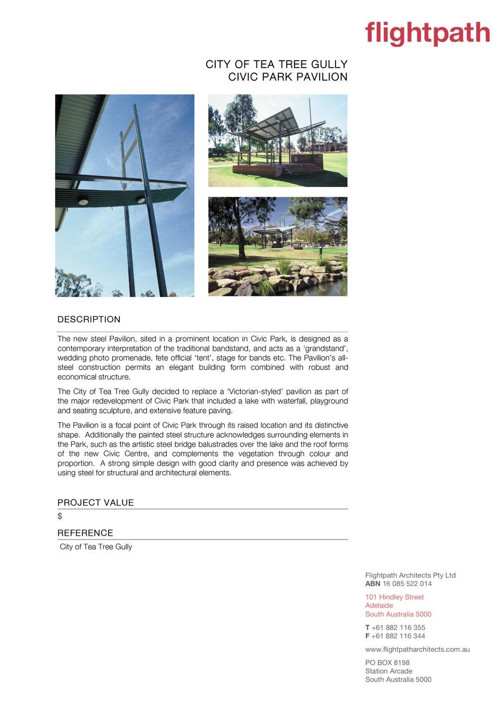 2014 - TTG Civic Park Pavilion
