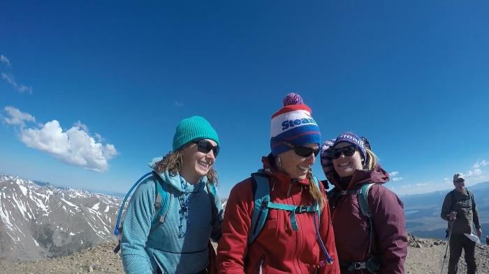 Summit of Mt. Elbert, facing Mt. Massive. July 4th, 2017.