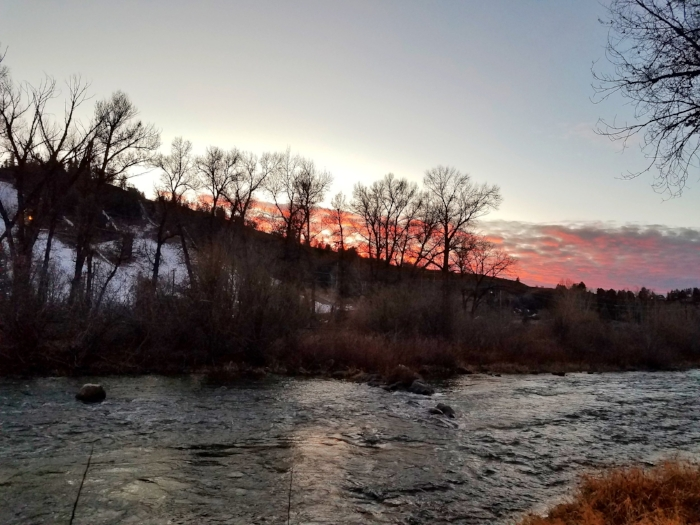Sunset on the Yampa River.