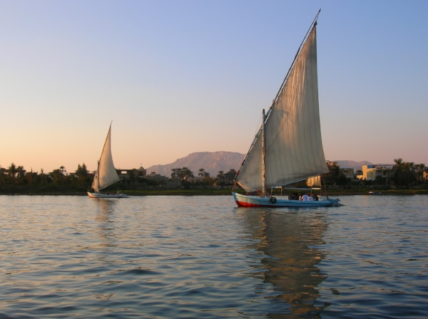 Feluccas on the Nile River, Egypt - late 2006.