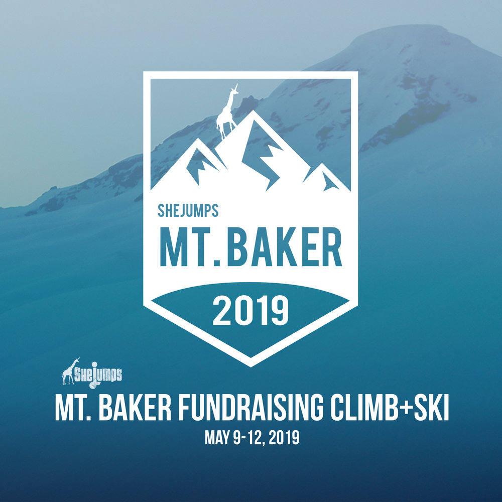 SheJumps Mt. Baker Climb + Ski - Please join me this winter as I train + campaign to raise funds for the SheJumps Wild Skills Youth Initiative! In May, an intrepid and adventurous group of women will summit and ski Mt. Baker as a culmination of our fundraising efforts over the season. Any amount you can donate will help - all funds will support our mission of getting more women and girls involved in outdoor activities.Please visit my Personal Fundraising Site HERE to donate!SheJumps Mt. Baker Climb+Ski contributes to the nonprofit's Wild Skills program. Wild Skills youth events teach young girls the survival and technical skills they need for outdoor adventuring. These skills can be applied in any season and include first aid, navigation, leave no trace and shelter building. Our events encourage girls to learn new skills, take on challenges and think creatively, which develops perseverance and fosters confidence. The funds raised from this climb will help further this vision. THANK YOU!