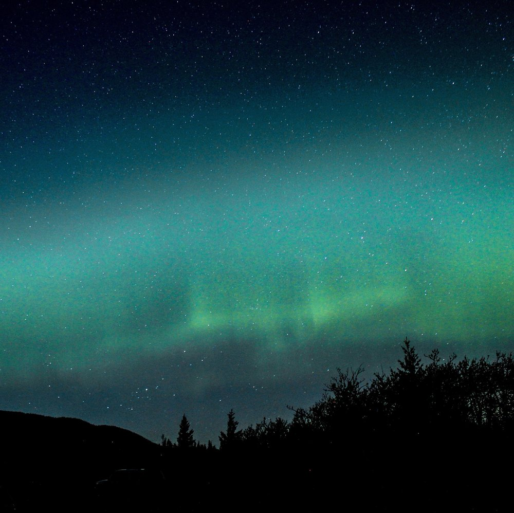 Even at the end of May, we got a glimpse of the majestic Northern Lights