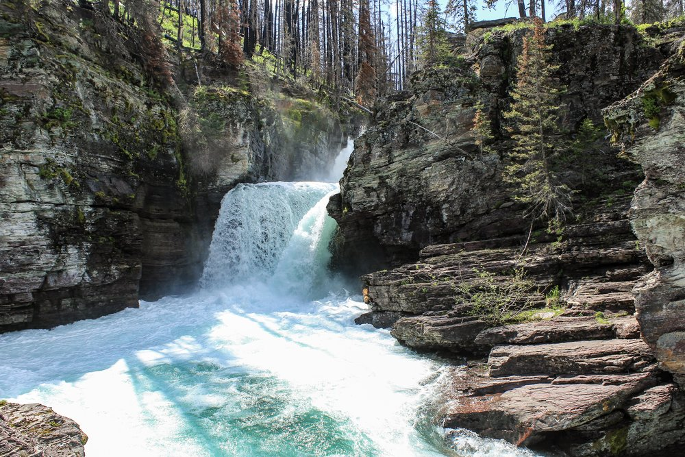 St Mary waterfalls is one stop you should make along the Going-to-the-Sun road