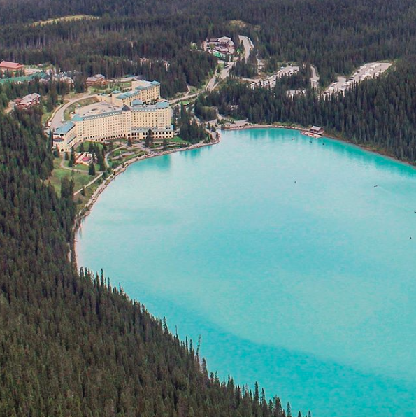 After hiking to Lake Agnes teahouse, continue on to Big Beehive for this view of Lake Louise