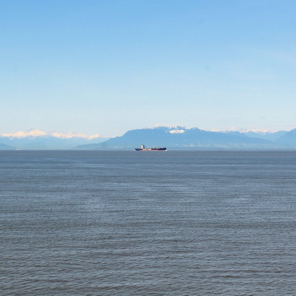 On a clear day you can view the Mount Olympus mountain range in Washington state, USA on the ferry back to Vancouver mainland