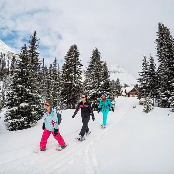Snowshoeing out of Skoki