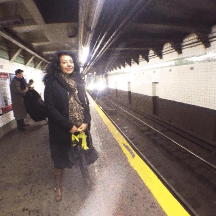 - Me waiting for the F train in Manhattan