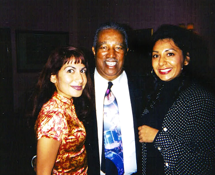 My sister Olivia, the legendary bassist  Ray Brown  and me!