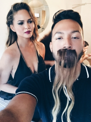 When you wear Chrissy Teigen's tape-in's as a moustache.