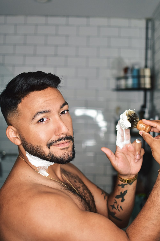 Shaving Brush to Help Lift Stubborn Hair