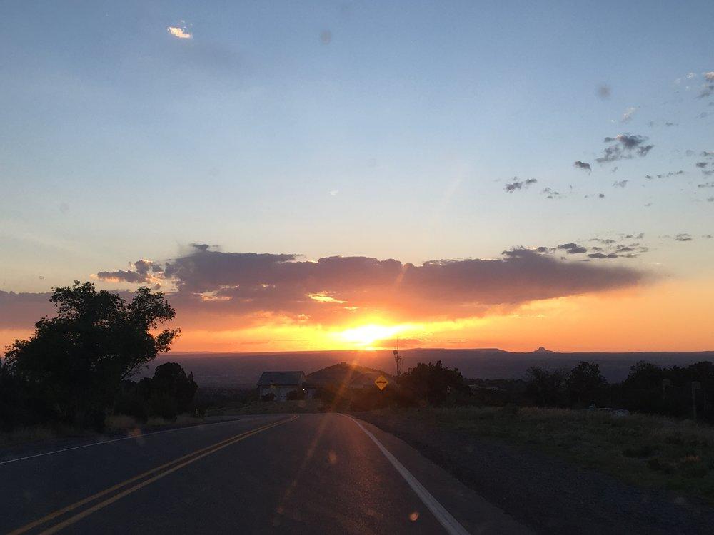 Stunning sunset in Placitas, NM!
