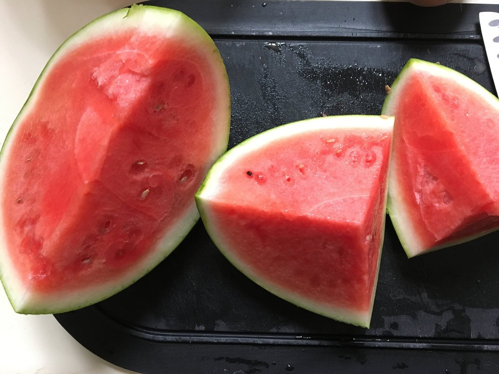 First watermelon of the season for the Sunday Afternoon win!