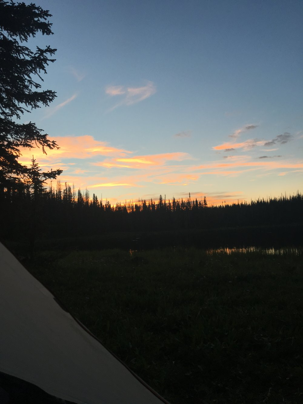 Sunset views from our tent