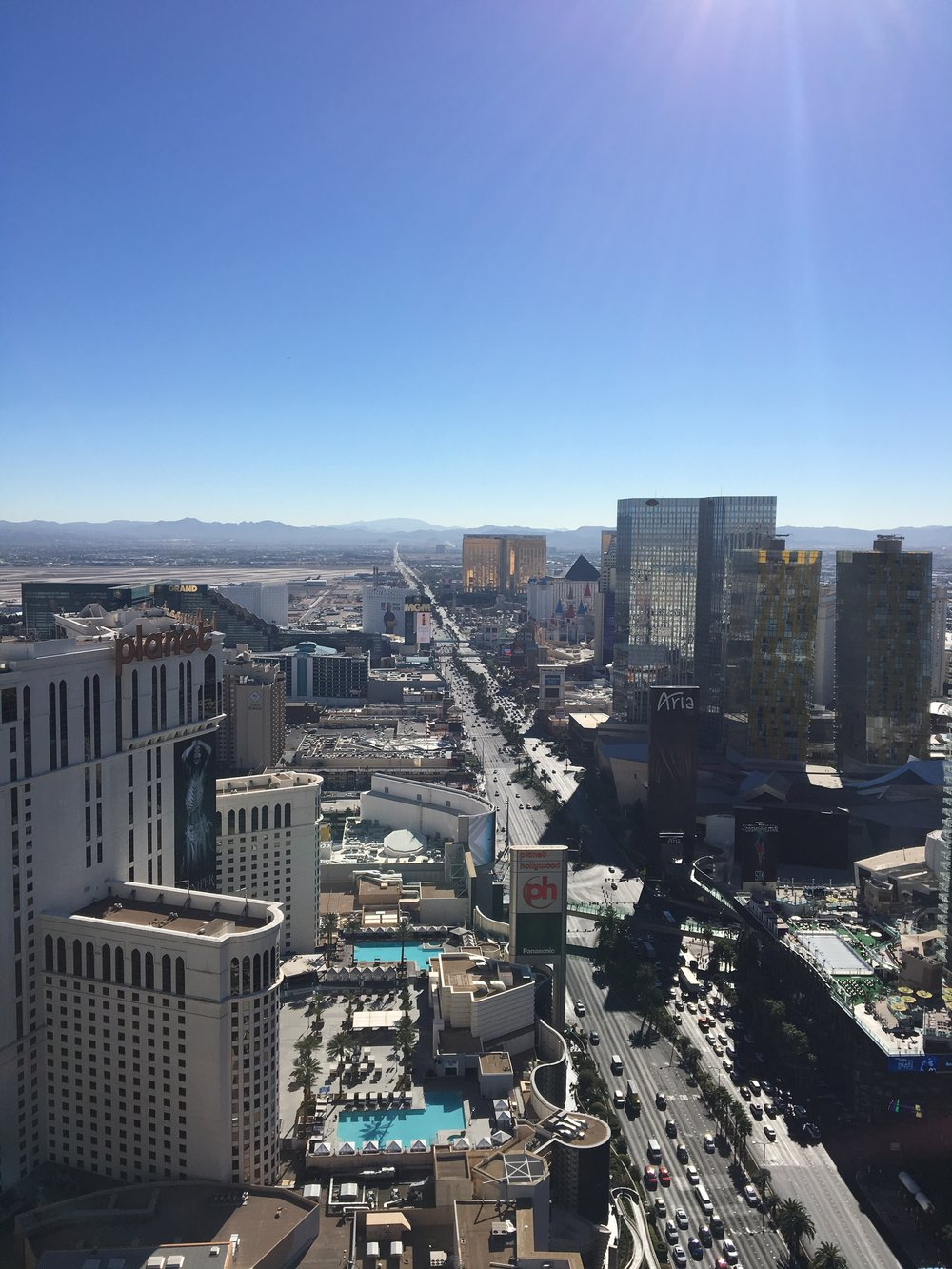 View from the top of the stratosphere! It was a perfectly sunny last day that we were here last year and hoping for the same weather again this year :)