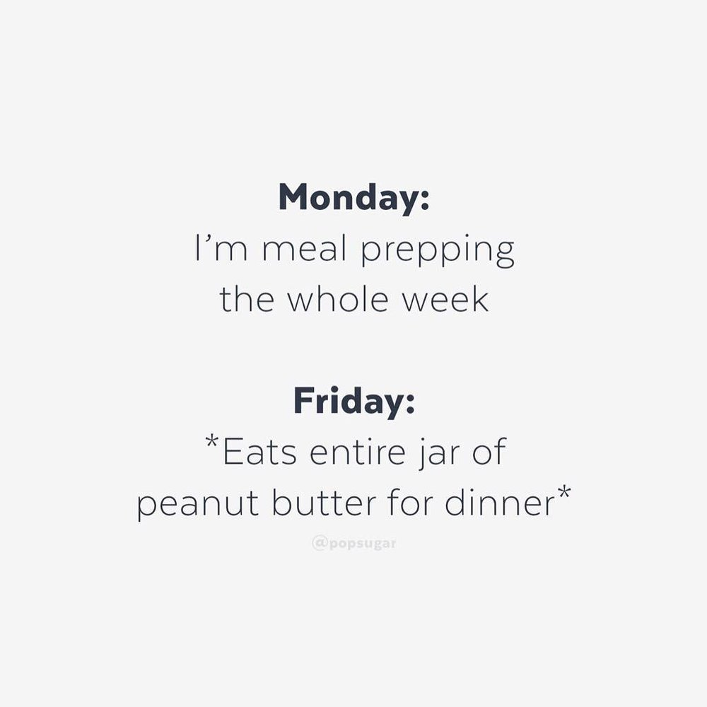 So accurate. Except it's normally pizza by Friday night ; )