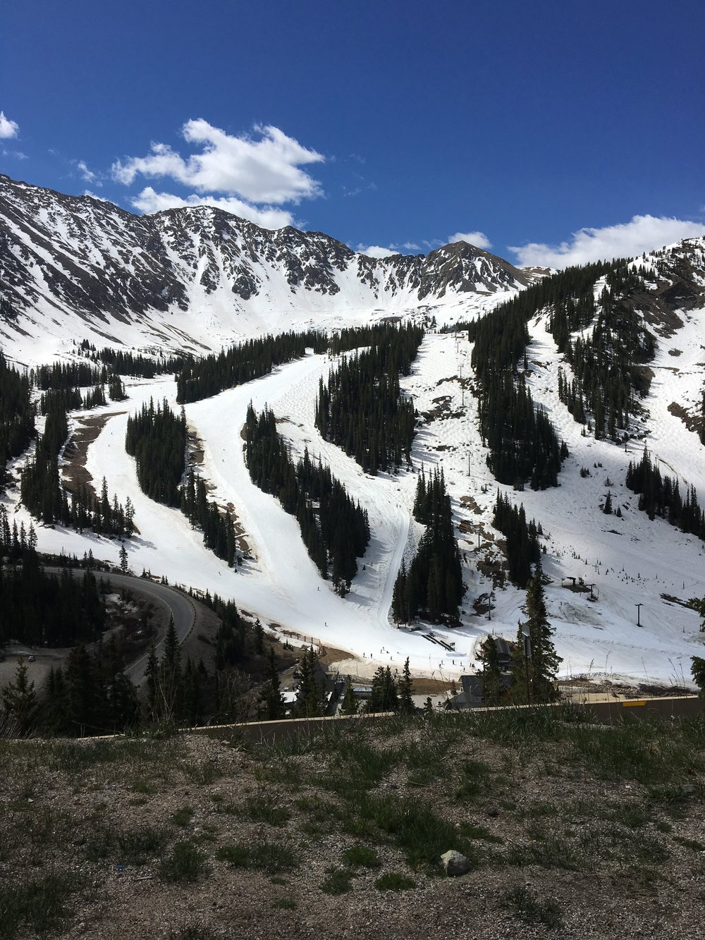 Looking down on A-Basin!