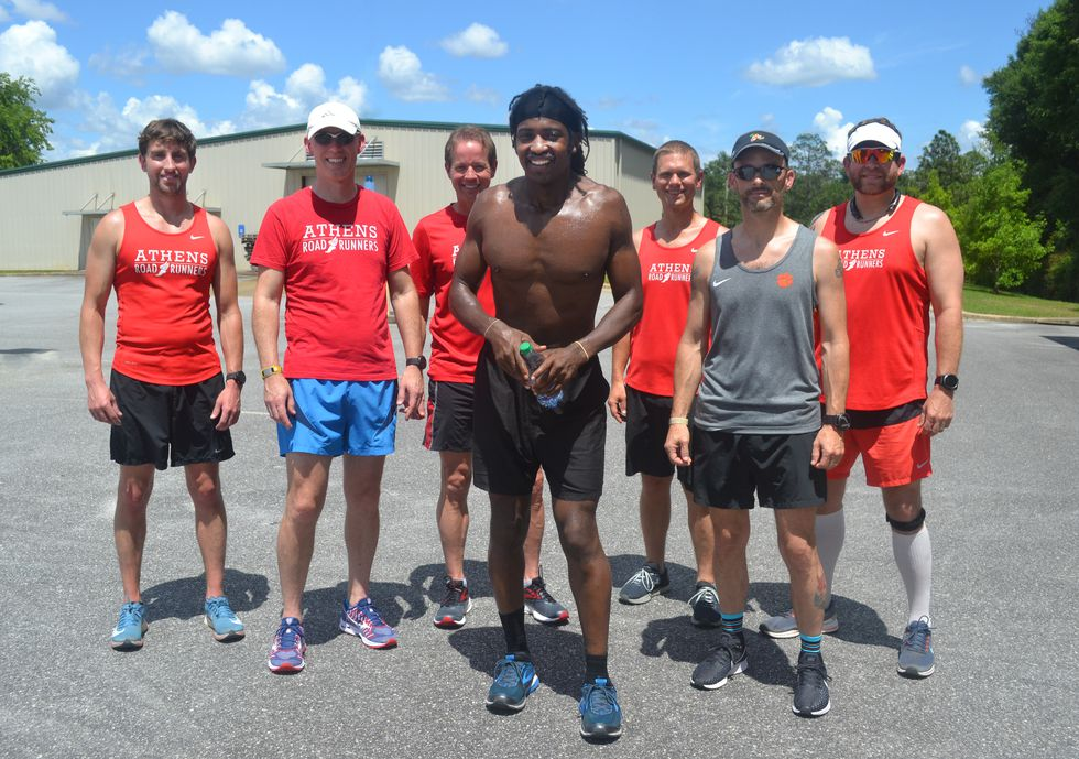 Photo of Harold Allen & Running Support Crew from  Runners World