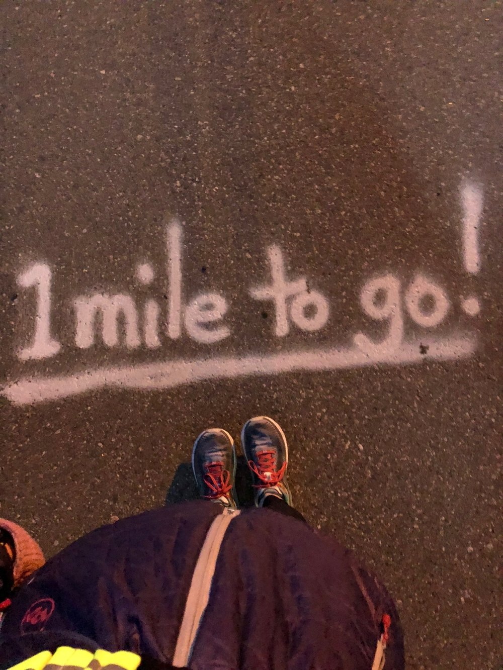 …more like 8 more miles to go! I think this was from the Marathon course back in June!