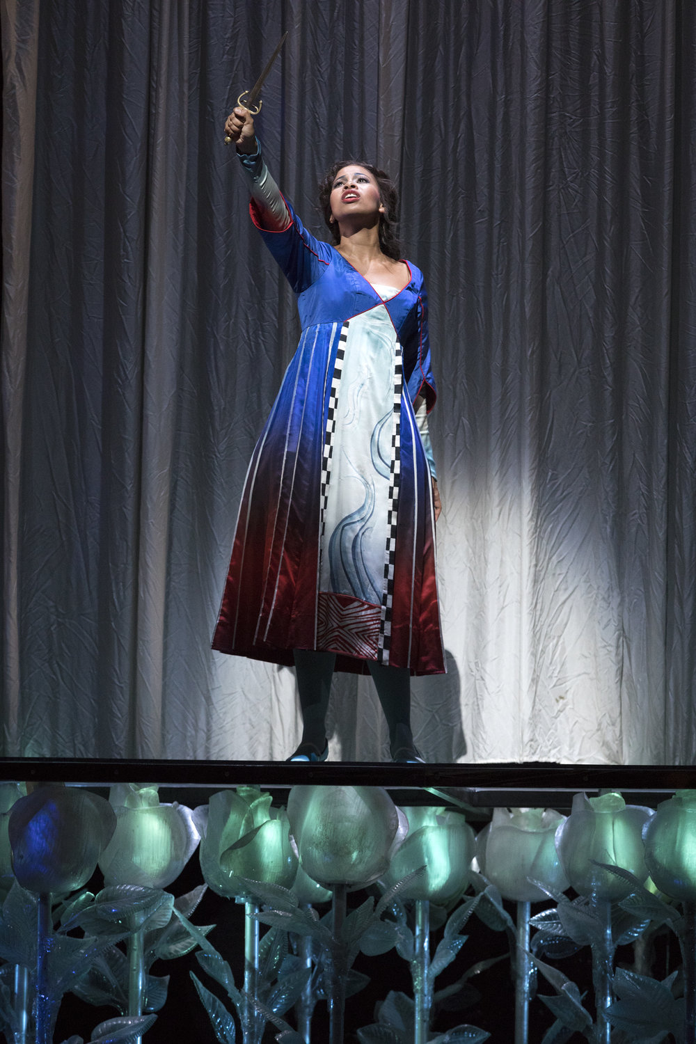 Pamina in  Die Zauberflöte  at The Metropolitan Opera, Sep & Nov 2017. Photo by Richard Termine/Metropolitan Opera.