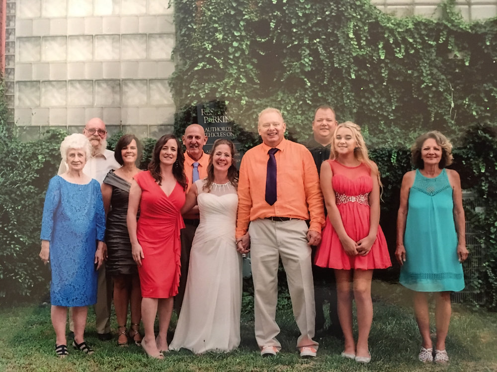Betty Jo Peek is in the front row far left in the blue dress.