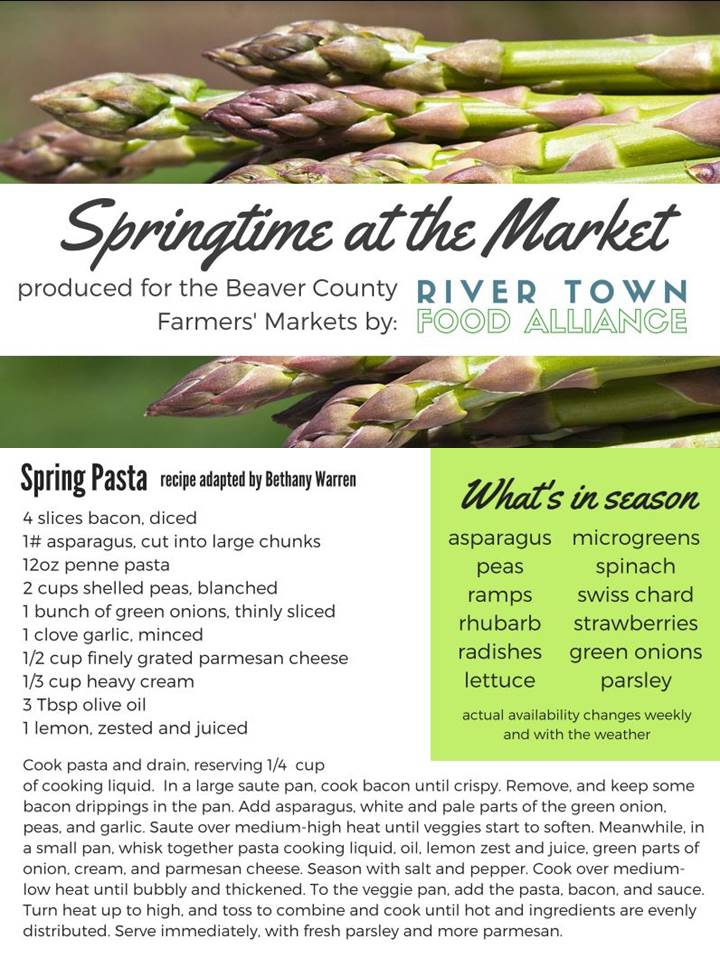 Spring Pasta - When the early asparagus is coming in, a spring time pasta is just the thing!