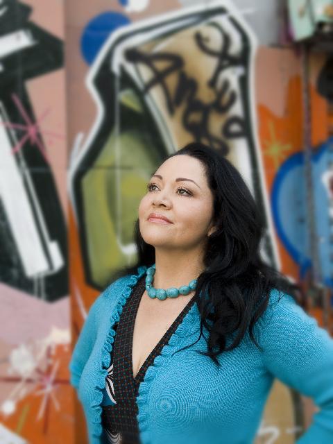 Josefina López in turquoise - Photo courtesy of Shane Sato.jpg