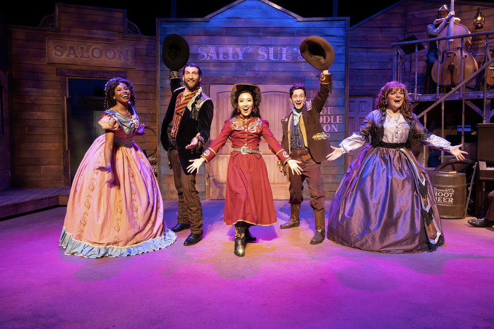 FROM LEFT TO RIGHT- THE FULL CAST: CLOIE WYATT TAYLOR, CLAYTON SYNDER, GRACE YOO, JOSEY MONTANA MCCOY, KELLY BRANDEBURG  PHOTO CREDIT: AARON BATZDORFF